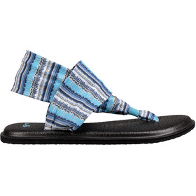 Sanük Yoga Sling 2 Prints - Sandalias Mujer - azul/blanco